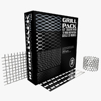 3d grill pack model