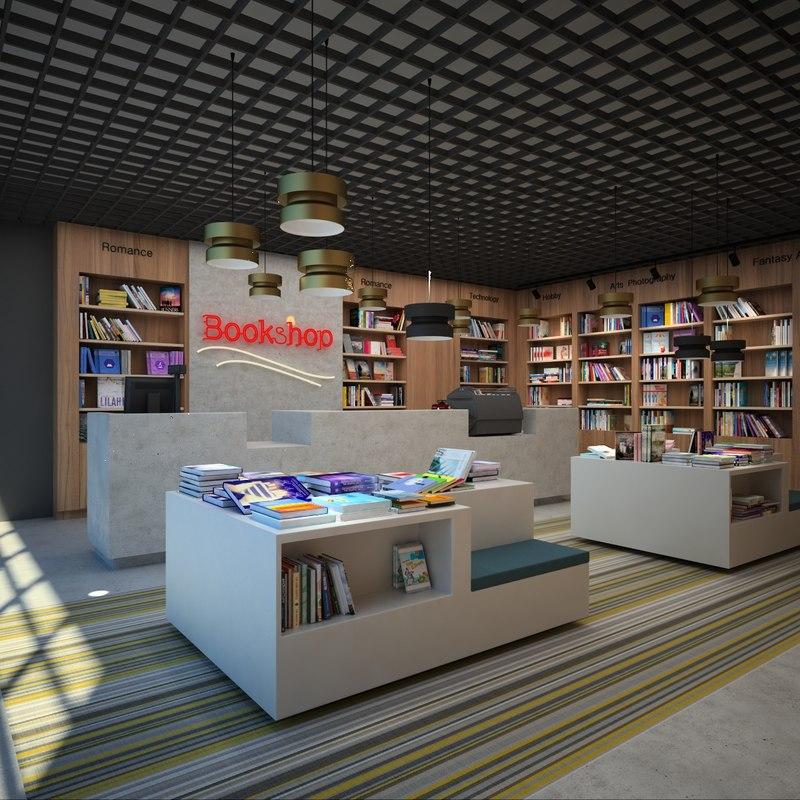 3d bookstore books