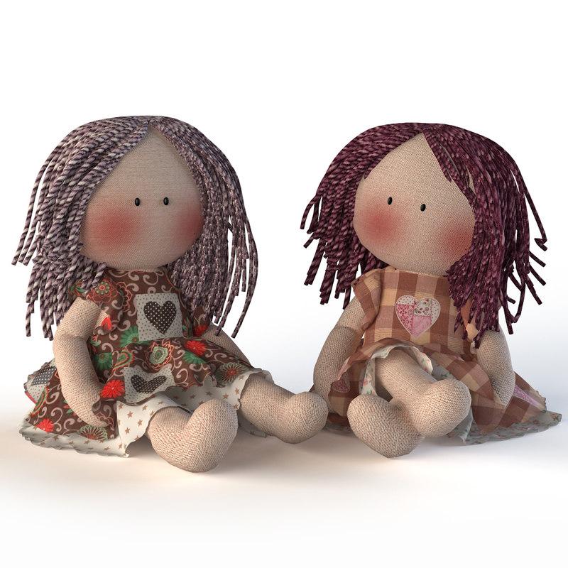 dolls textile 3ds