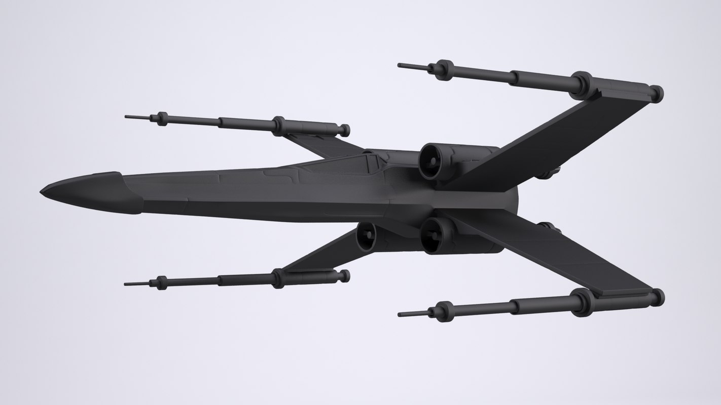 3d max x-wing spaceship