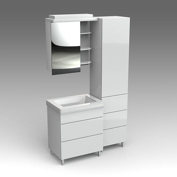 glass wash-basin cabinets fbx