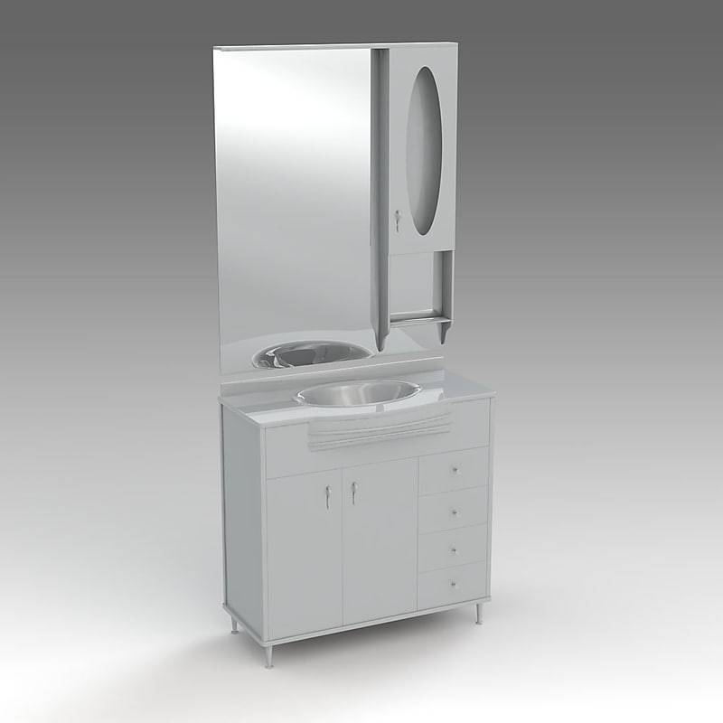3d glass wash-basin cabinets