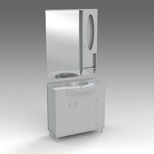3d glass wash-basin cabinets