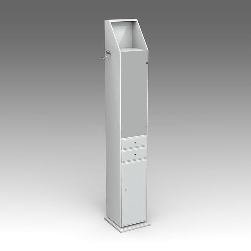 cabinet mirror 3d model