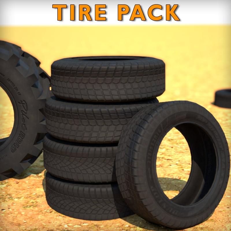 3d low-poly tire