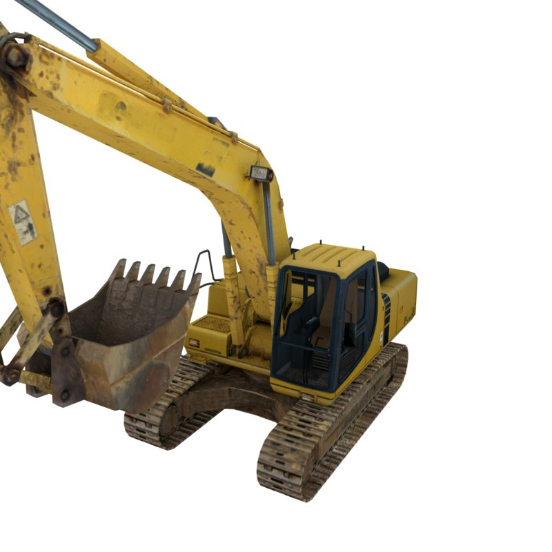 excavator 3d 3ds