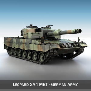 leopard 2a4 battle tank 3d model