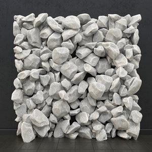 3d stone panel model