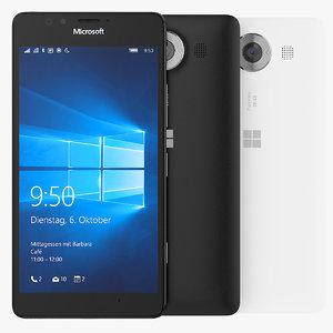 3d microsoft lumia 950 smartphone model