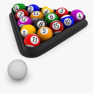 pool balls 3d model