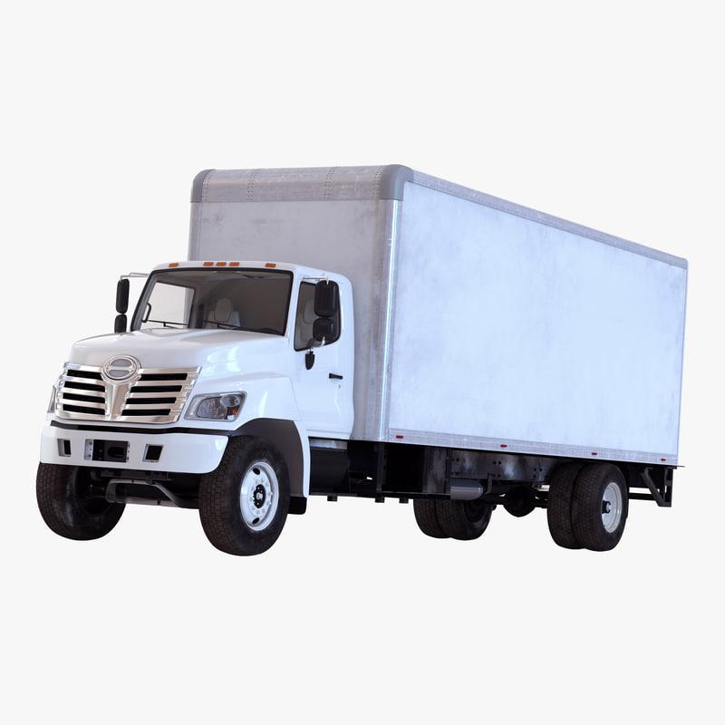3d model box truck