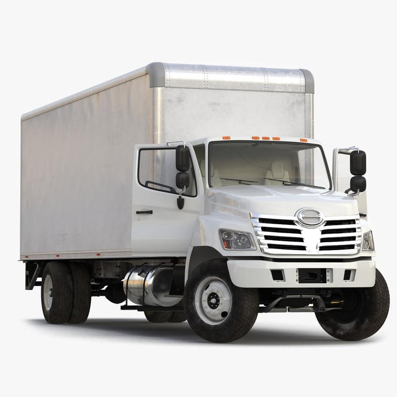 box truck rigged 3d model