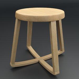 3d model monarchy stool