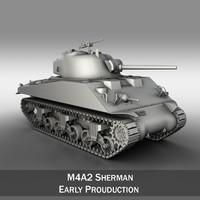 m4a2 sherman - m4 3d model
