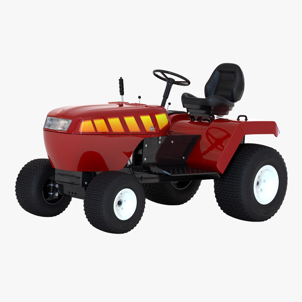3d model small tractor modeled