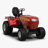 Small Tractor Rigged 3D Model