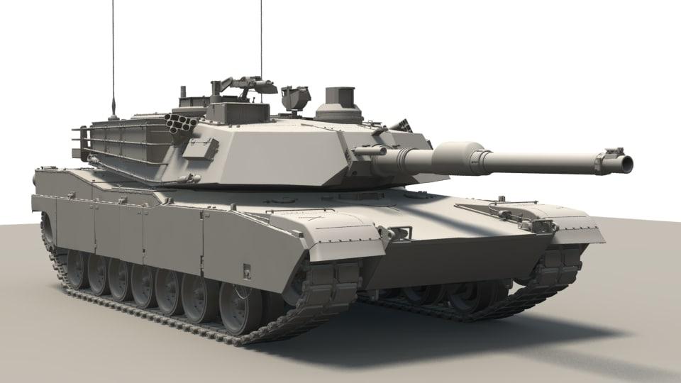3d tank m1 abrams
