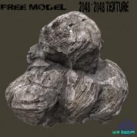 free rock 10 3d model