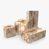 christmas gift 3d max