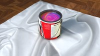 3d gallon paint model