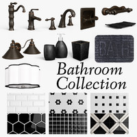 bathroom fixtures set 3d max