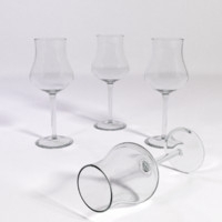 3d model white wine glass small