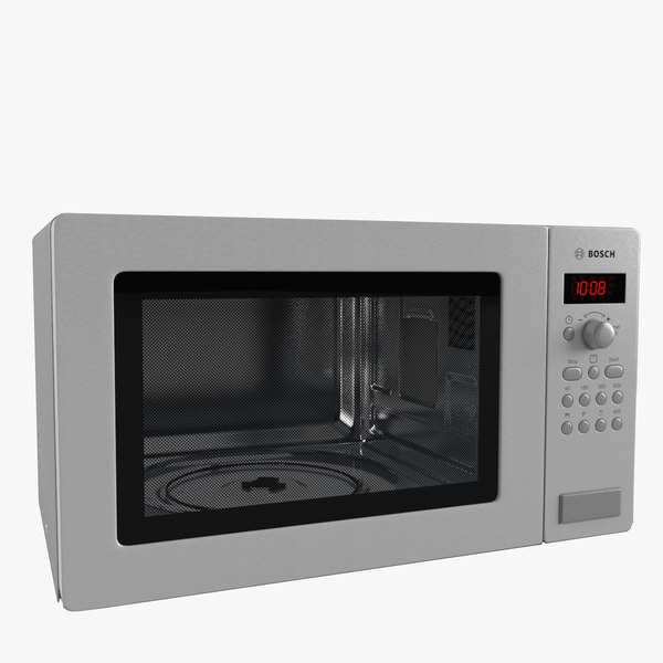 microwave oven bosch 3d model