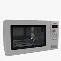 microwave oven bosch 3d model