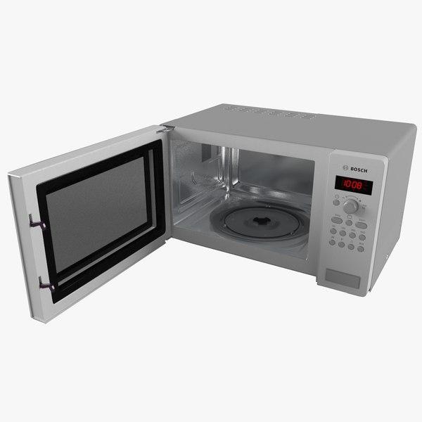 3d model microwave oven bosch