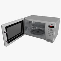 Opened Microwave Oven Bosch