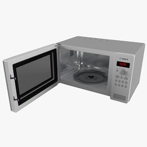 3d model microwave oven bosch
