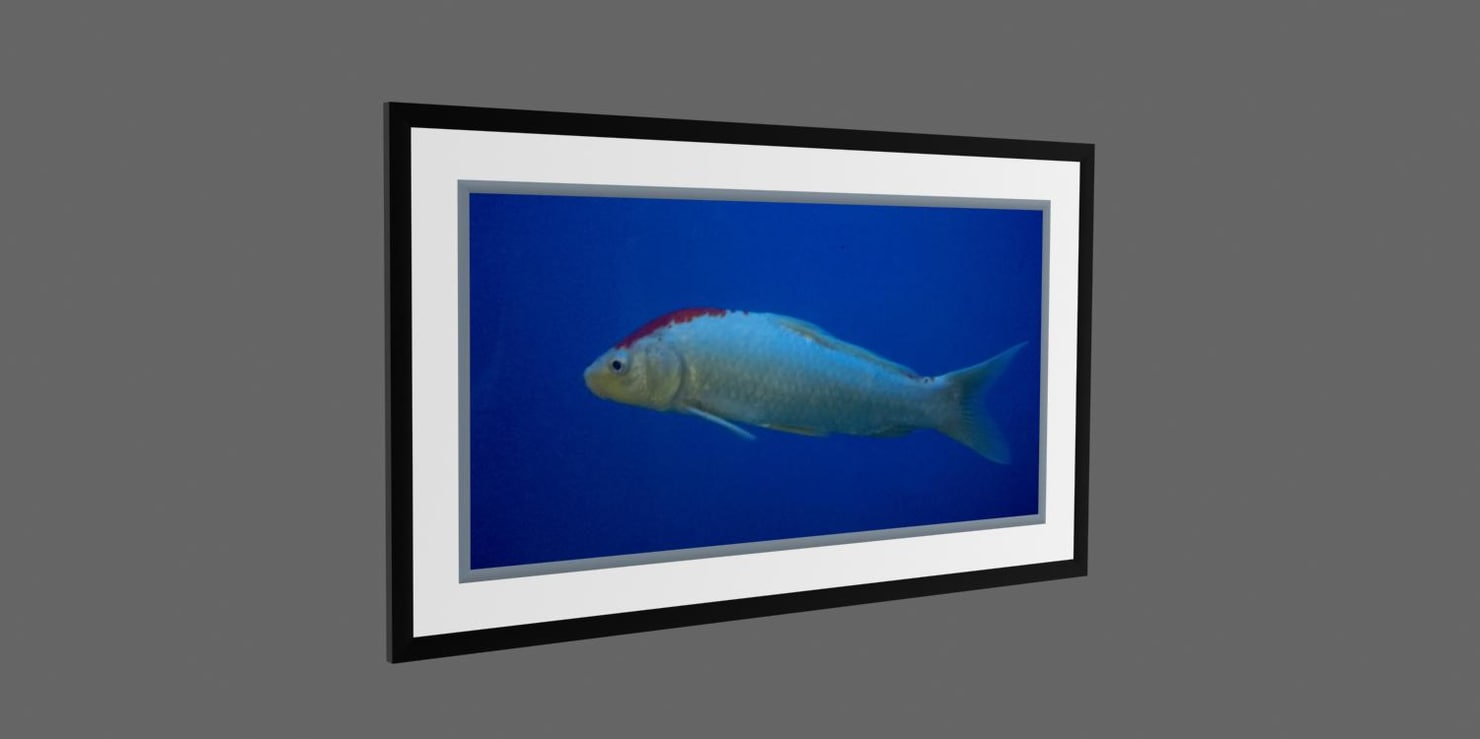 photo frame fish 3d model