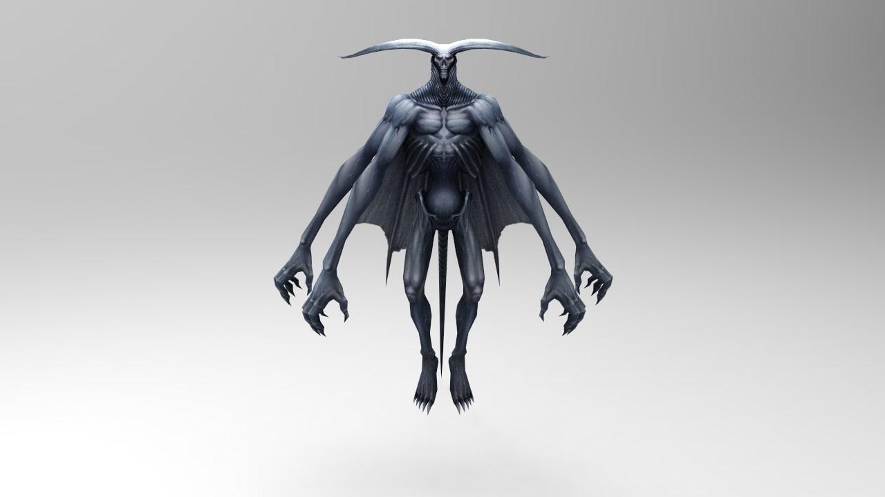 3d monster character model