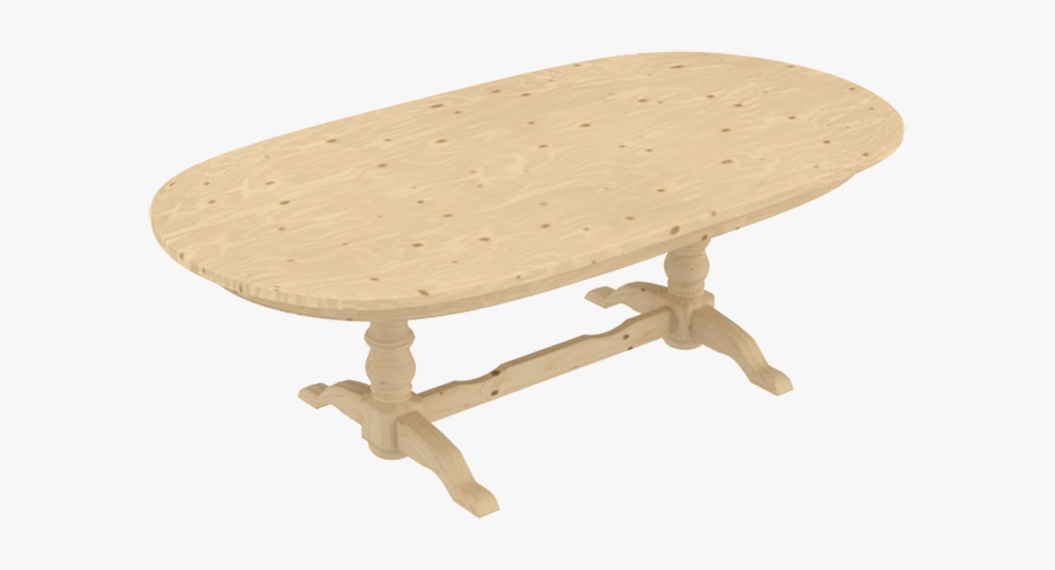 dining wooden table 3ds