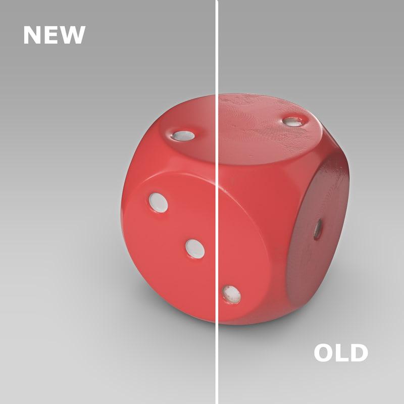 free plastic dice 3d model