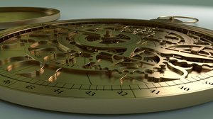 3d hyperrealistic astrolabe