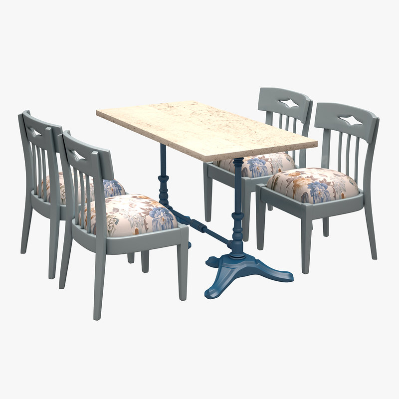 3d model of cafe dinner set