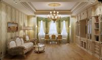 classic living room interior max
