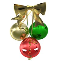 photorealistic christmas jingle bells 3d max