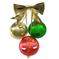 photorealistic jingle bells 3d model
