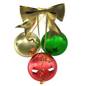 photorealistic christmas jingle bells 3d max