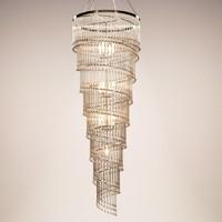 max ochre - spiral chandelier