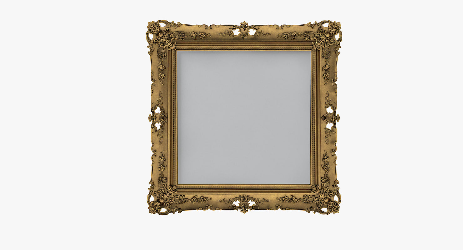 3d classical style picture frame