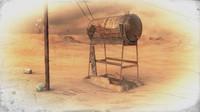 3d old rusty water tank model