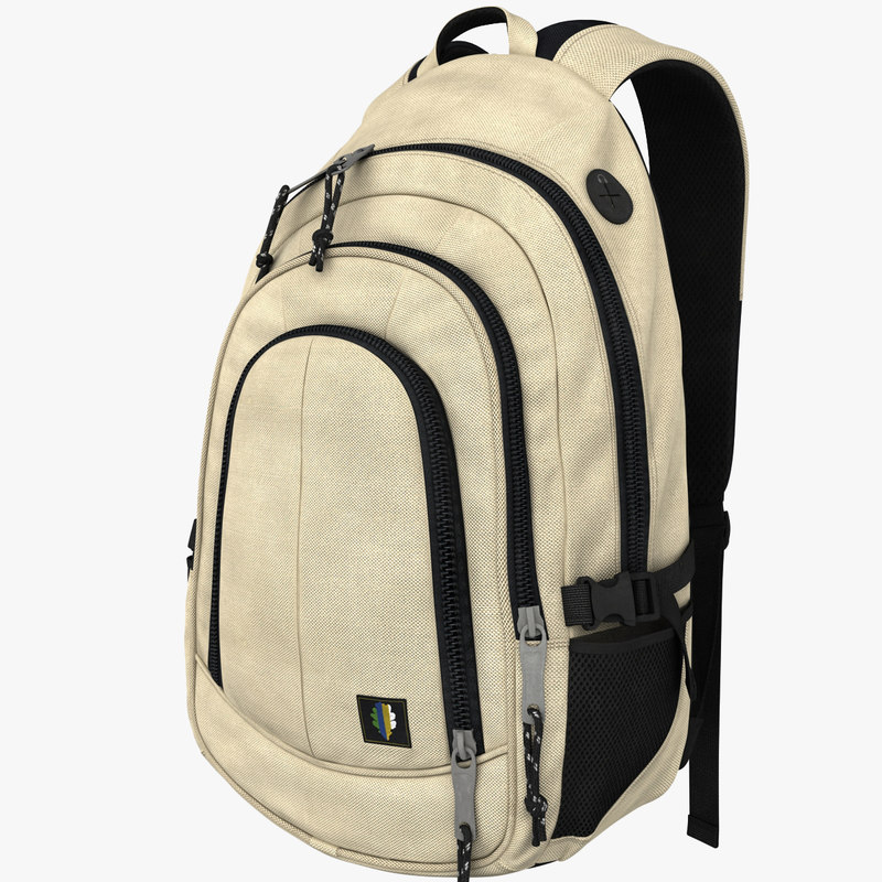backpack clothing characters 3d max