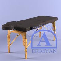 massage table 3d c4d