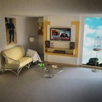 3d model chambre