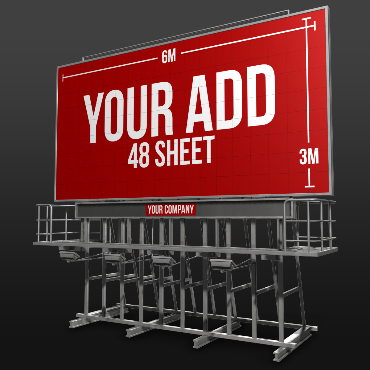 billboard sign 48 advertising dxf