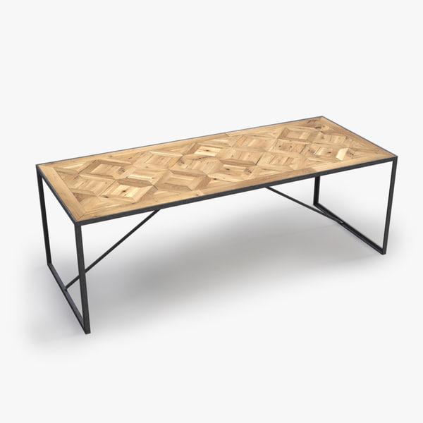 3ds max industrial dining table