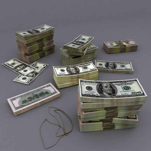 3d bills usd